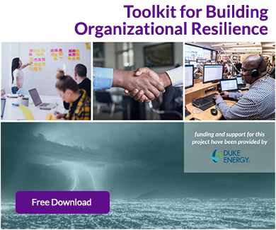 Cover image of Toolkit for Building Organizational Resiliency publication for free download