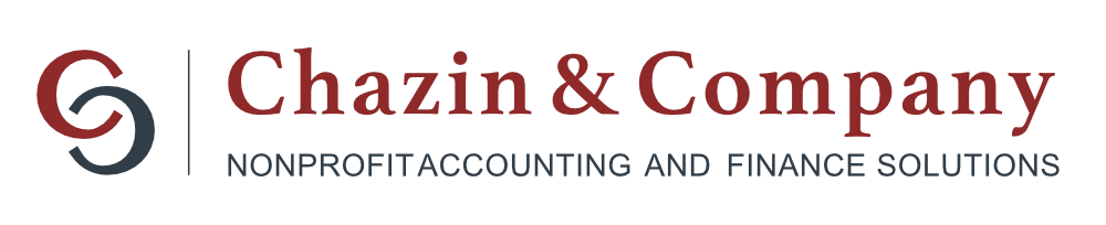 Chazin and Company dark red and gray text logo