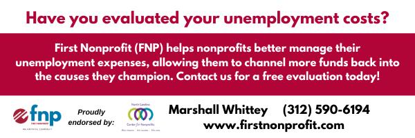 First Nonprofit Group insurance ad evaluate unemployment costs