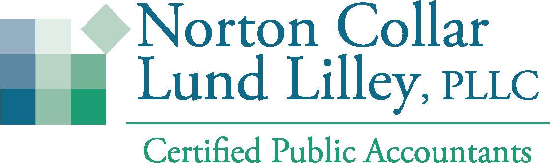 Norton Collar Lund Lilley green blue text logo