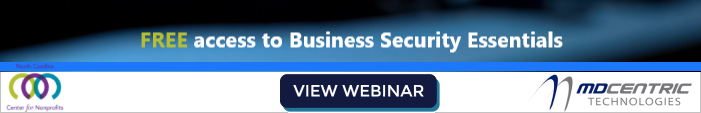 Free Cybersecurity webinar from MD Centric