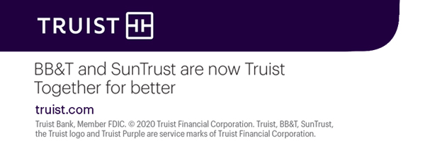 BB&T and Sun Trust are now Truist together for better