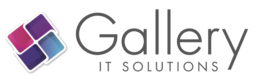 Gallery Info Technology Solutions Purple Pinwheel Logo
